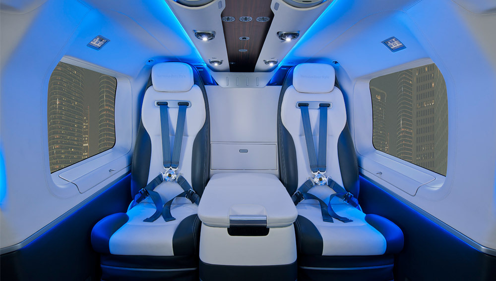 The EC145 Luxury Mercedes-Benz Style Helicopter